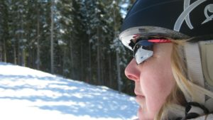 Gafas de sol campo con nieve